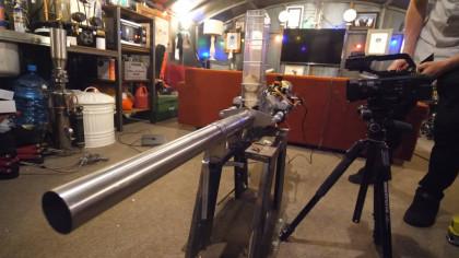 Man Makes a Potato Cannon for His Home-Made Tank