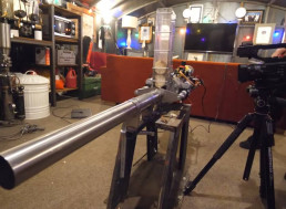 Man Makes a Potato Cannon for His Home-Made Tank