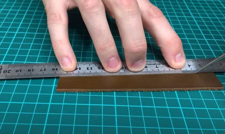 diy leather belt bisect line