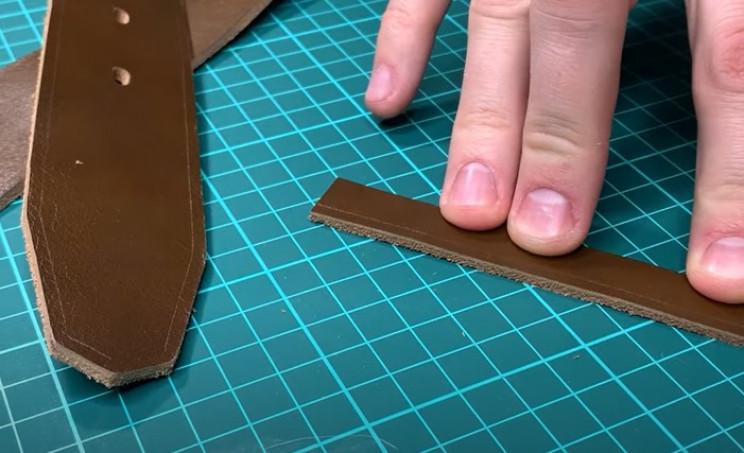 diy leather belt border