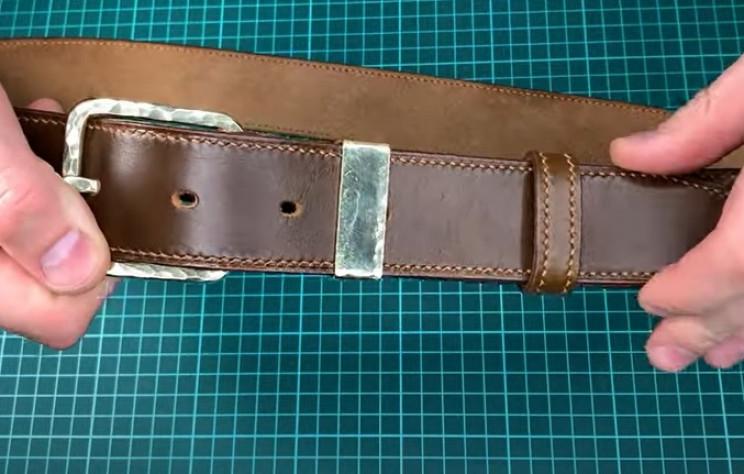 diy leather belt complete