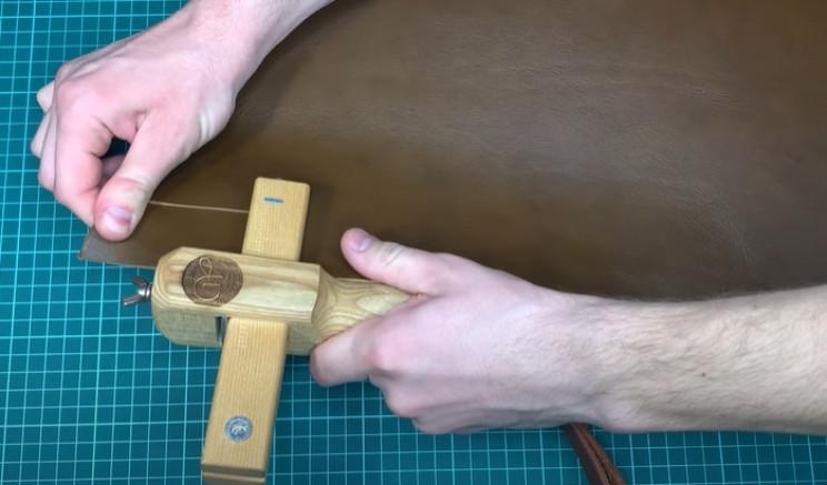 diy leather belt cut leather