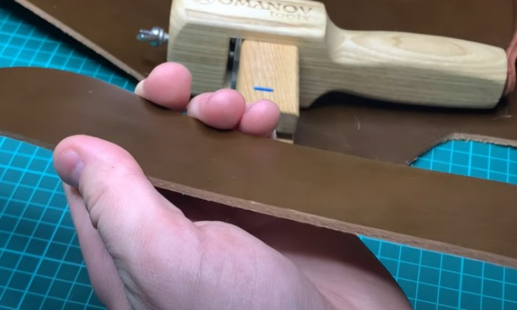 diy leather belt cut