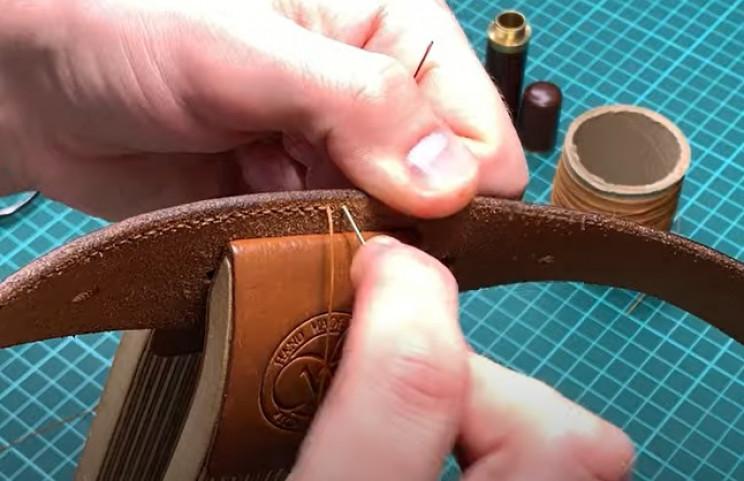diy leather belt keep stitching
