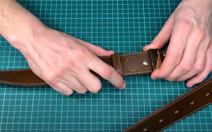 diy leather belt leather loop
