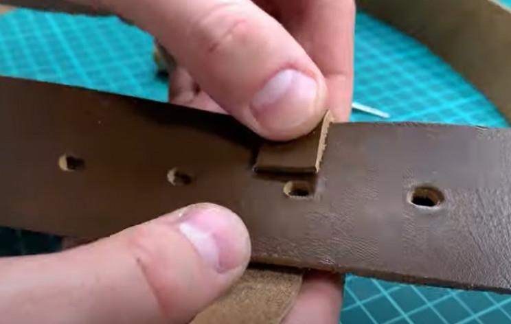 diy leather belt adjustment loop