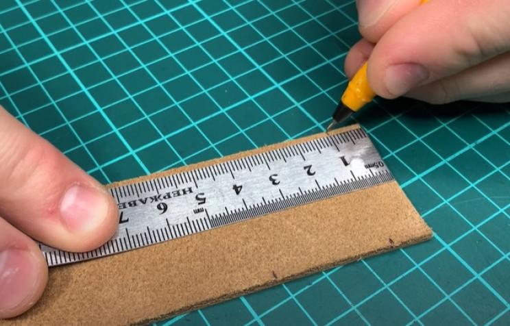 diy leather belt mark points