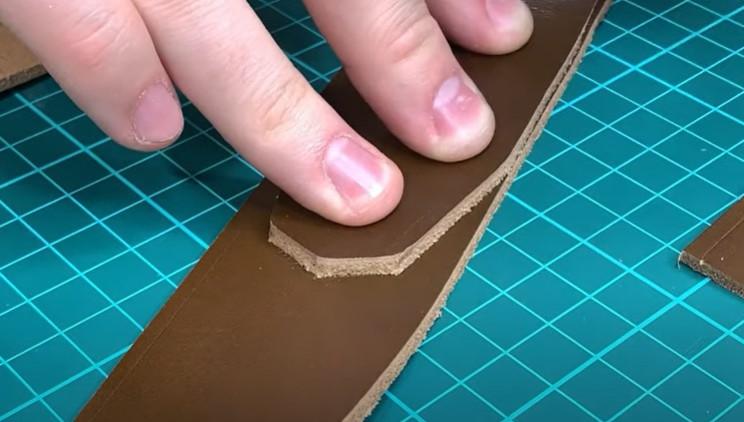 diy leather belt mark taper