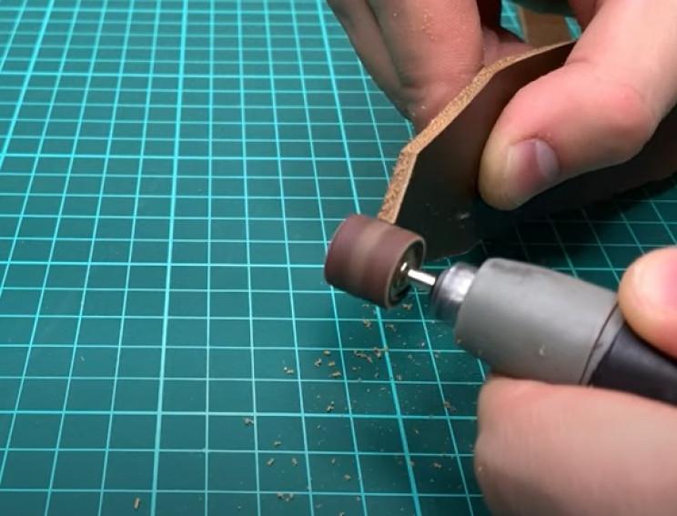 diy leather belt polish end
