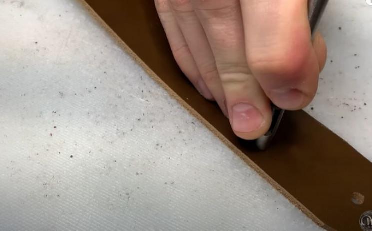 diy leather belt punch holes