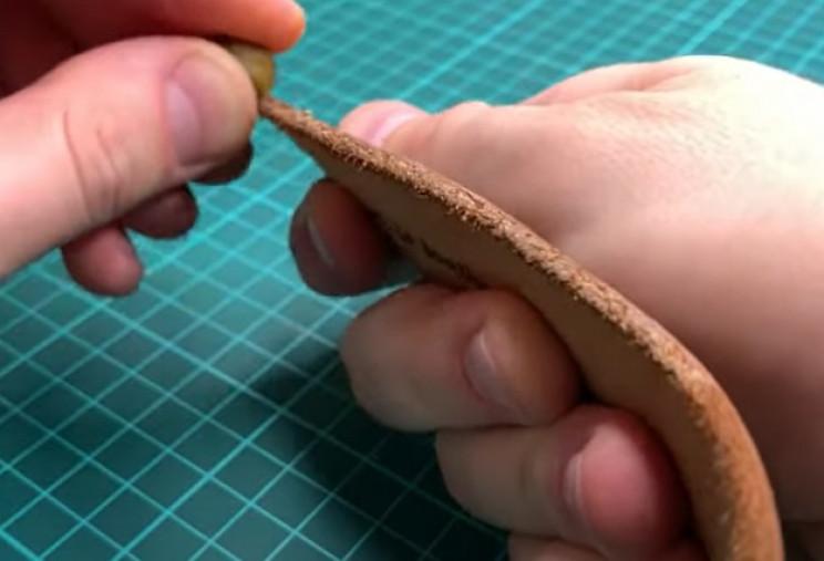 diy leather belt rub edges