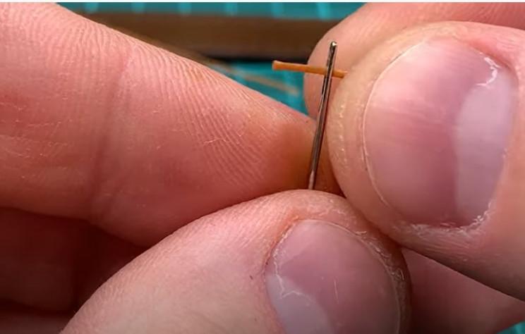 diy leather belt thread needle