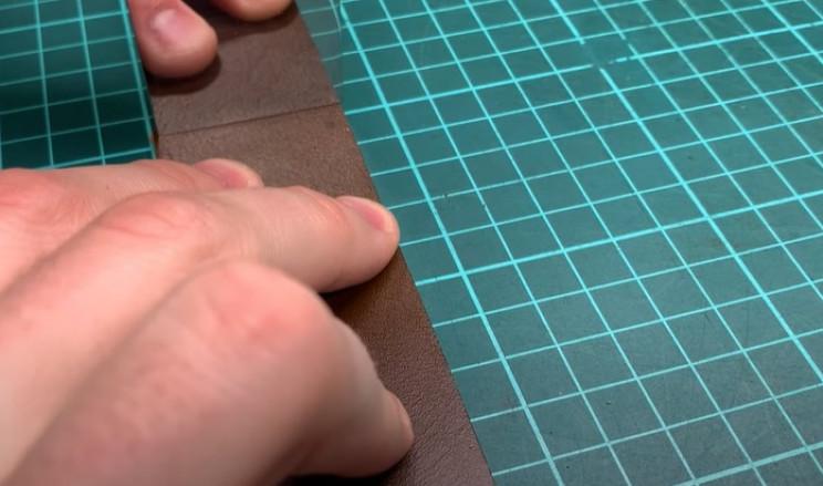 diy leather belt cut ends