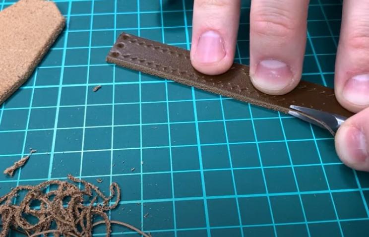 diy leather belt trim loop