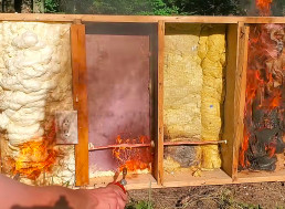 Comparing the Burnability of Different Fire Insulation Materials