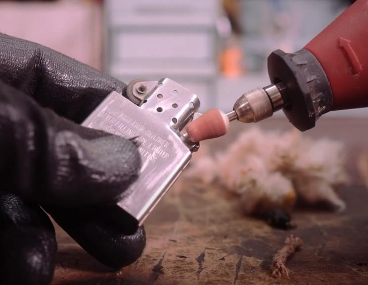 zippo lighter inner case sanding