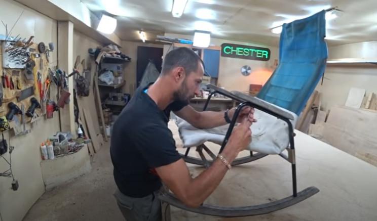 diy rocking chair restore dismantle