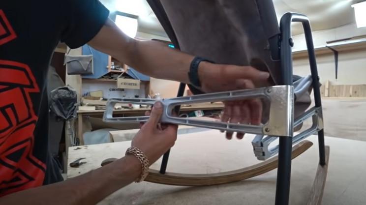 diy rocking chair restore hinges