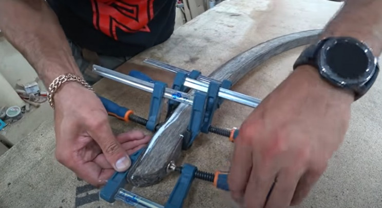 diy rocking chair restore glue wood