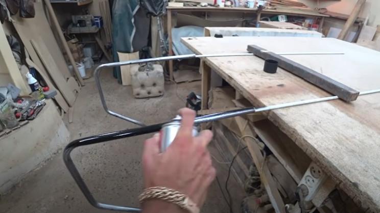 diy restore rocking chair spray paint