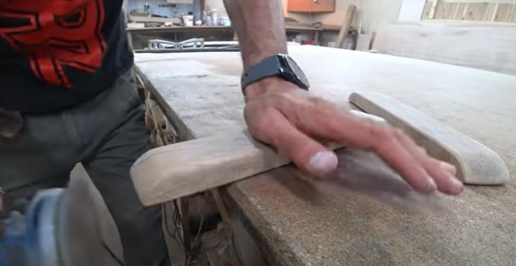 diy rocking chair restore sand down