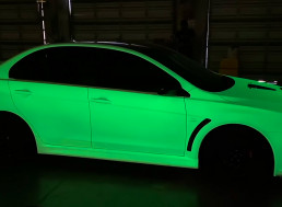Spraying a Car in World's Brightest Glow-In-The-Dark Paint