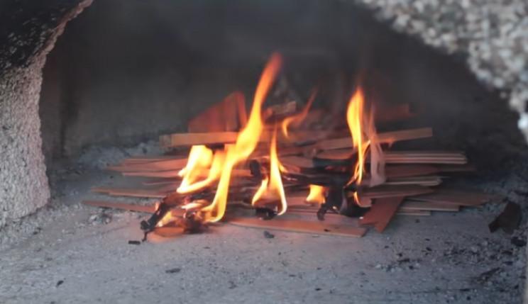 diy pizza oven burn fire