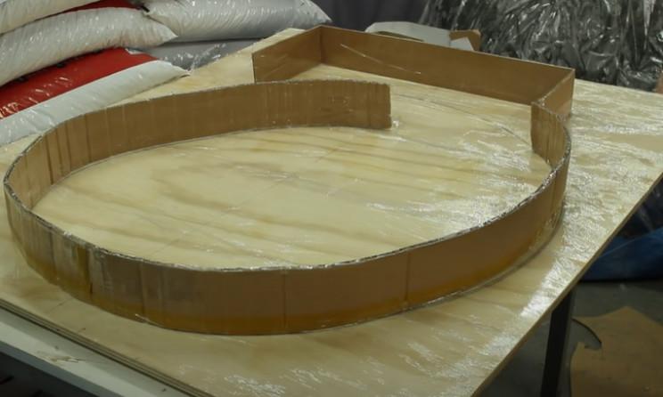 diy pizza oven cardboard mushroom