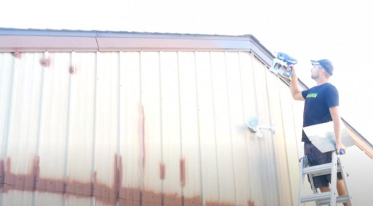 diy spray paint building trims