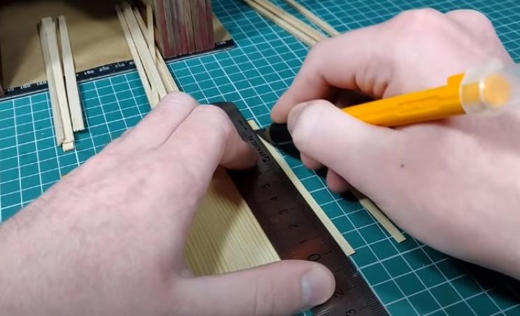 diy zombie diorama cut veneer