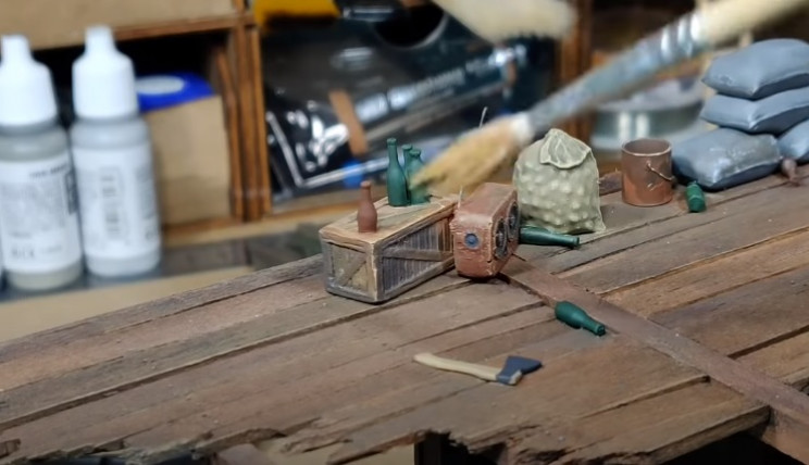 diy zombie diorama drybrush