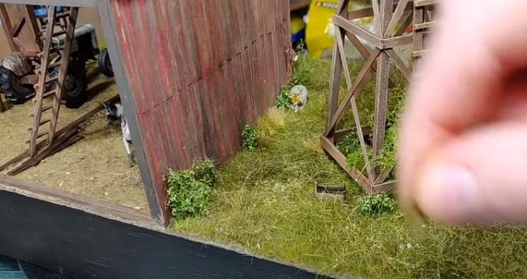 diy zombie diorama longer grass