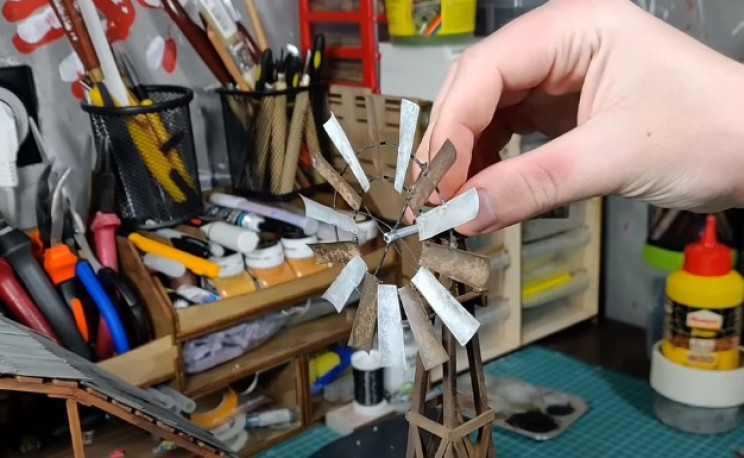 diy zombie diorama windmill complete