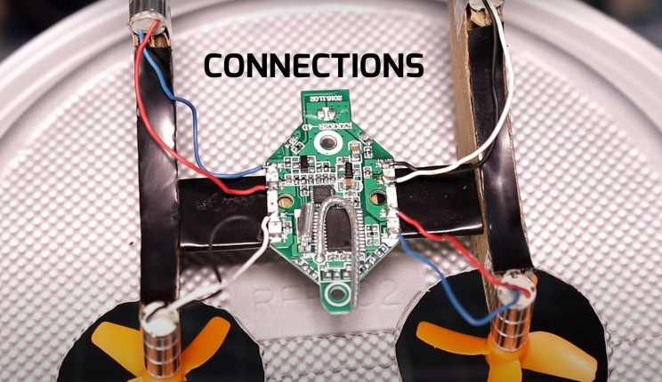 diy hovercraft wire up motors