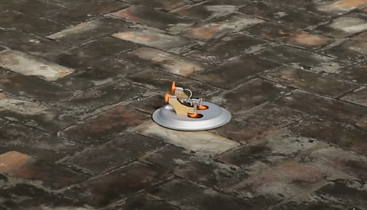 diy hovercraft in action