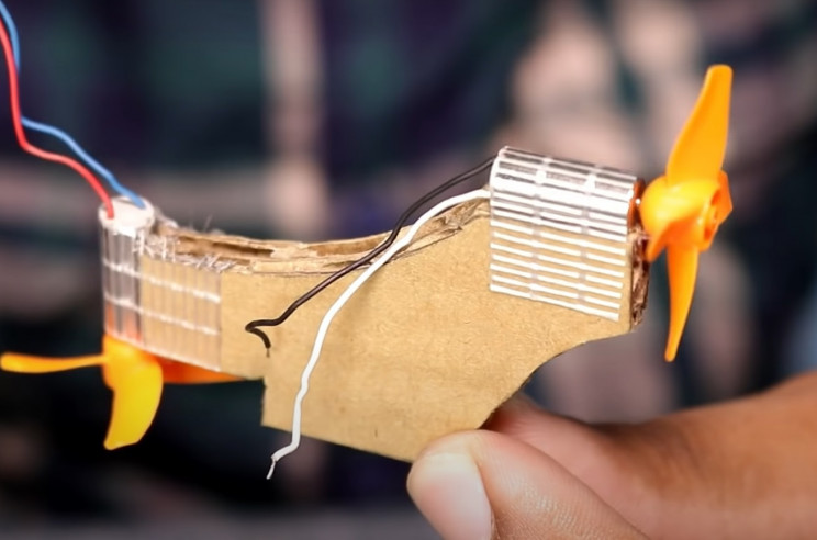 diy hovercraft cardboard motor