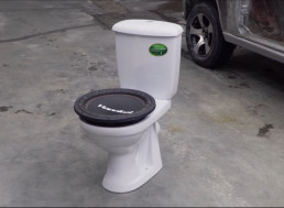 Mad Scientists Turn Toilet into a Subwoofer Box