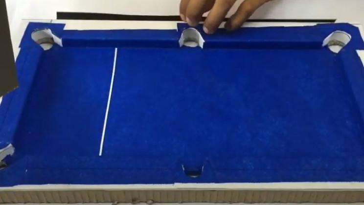 diy cardboard pool table felt complete