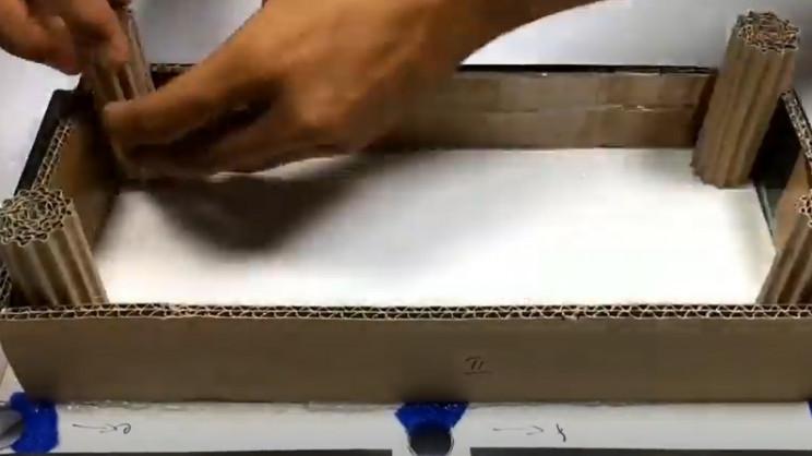 diy cardboard pool table legs