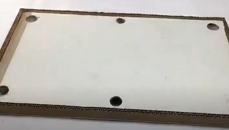 diy cardboard pool table seal edges