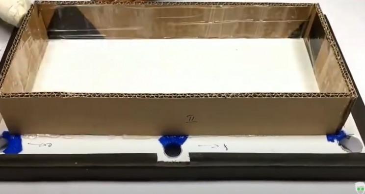 diy cardboard pool table under surface