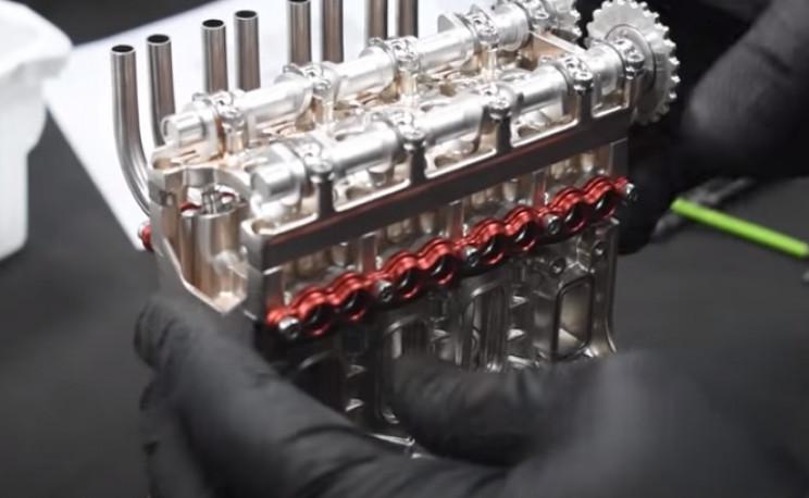 v4 engine camshaft to engine block