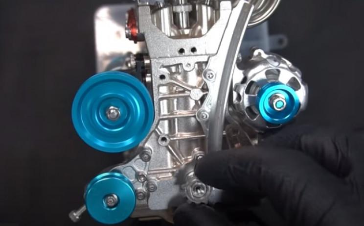 v4 engine crankshaft sprocket