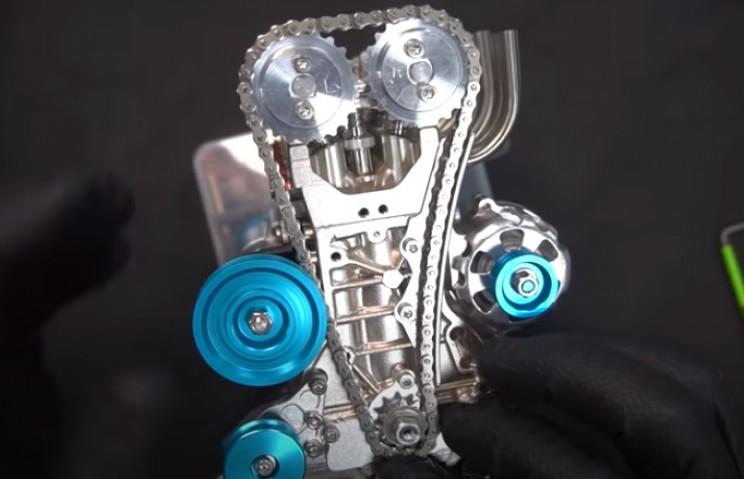 v4 engine drive chain