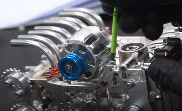 v4 engine timing bolt