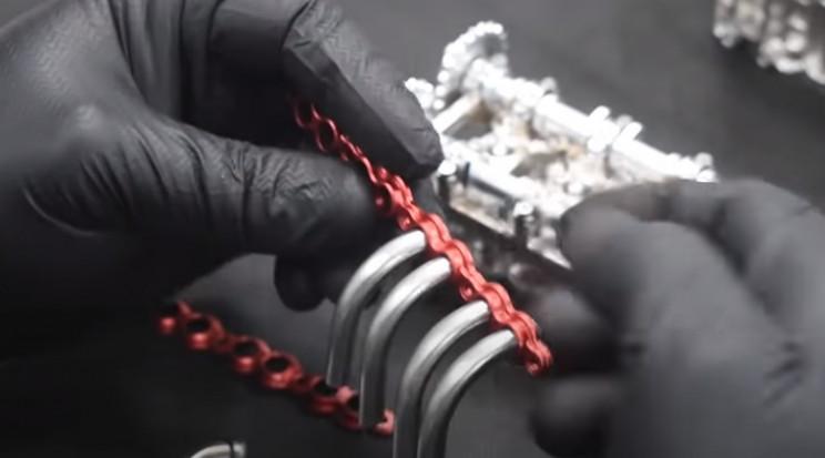 v4 engine assembly manifold