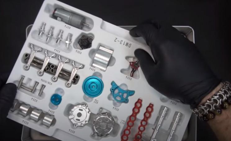 model v4 engine unbox