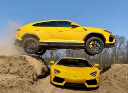 YouTuber Jumps His Lamborghini Urus Over an Aventador