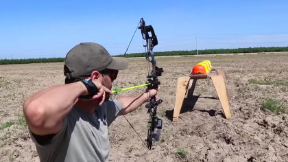 Guy Shoots an Arrow to See How Many Hard Hats It Takes to Stop It