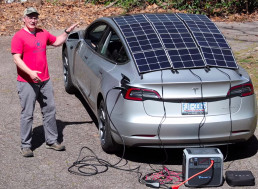 Tesla Owner Gives His Model 3 a Solar Panel Upgrade